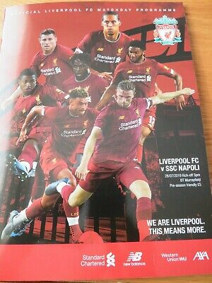 Liverpool Napoli Pre -Season Friendly Programme Murrayfield July 2019
