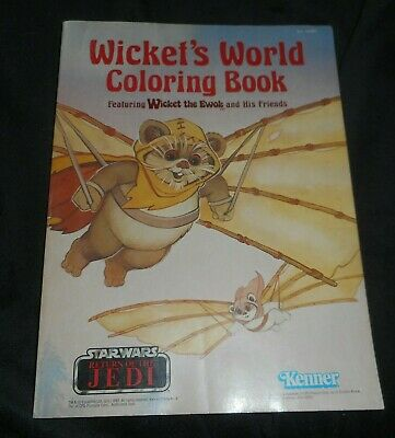 Vintage 1983 Wicket's World Coloring Book Star Wars Return Of The Jedi Kenner