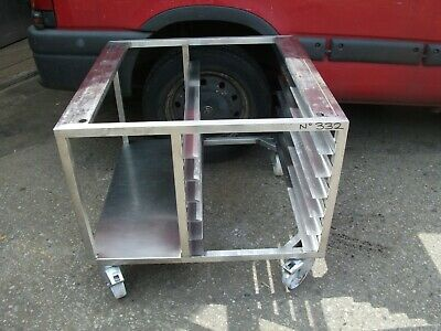No332  Stainless Steel Combie Oven  Stand On Castors   880Mm X 860Mm X 740Mm H