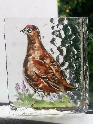 Stained Glass Grouse Game birds -  Kiln fired transfer fragment