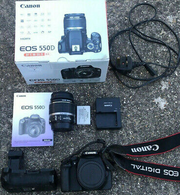 Canon 550D DSLR & Battery Grip & 18-55 EFS
