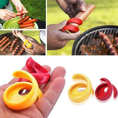 2PCs Manual Fancy Sausage Cutter Spiral Barbecue Hot Dogs Cutter Slicer WT