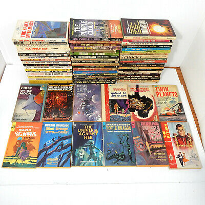 Vintage 1960s Science Fiction Lot of 67 with 30 1st/1st Atomic Era Golden Age SF