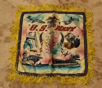 Original WW2 U.S. Pillow Case-US NAVY-Mother-Nice Condition-Never Used