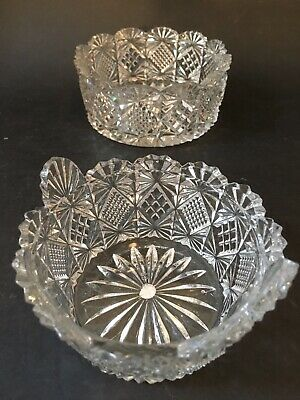 *Rare Set * Of Antique Victorian Percival Vickers Pressed Glass Dishes c1893