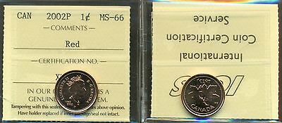 1952-2002P Canada One Cent ICCS Certified MS-66