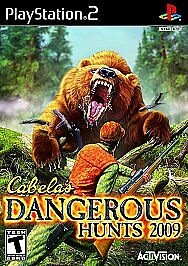 Cabela's Dangerous Hunts 2009 (Sony PlayStation 2, 2008) Complete CIB