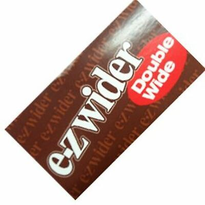 E-Z EZ Wider Double Wide Rolling Papers - 1 PACK - Thin Smooth Burn Smoke Brown