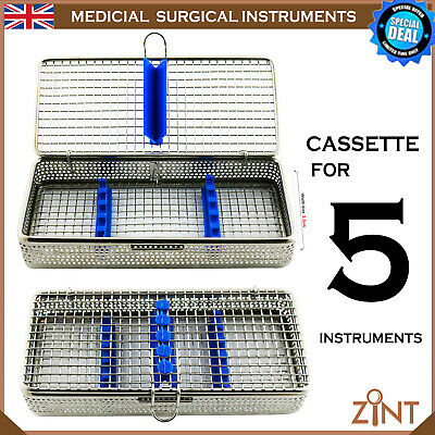 Medical Sterilization Cassette Stainless Steel Mesh Tray Holding Instruments New