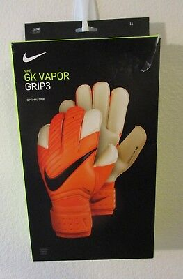NIB Nike GK Vapor Grip3 Soccer Goalkeeper Gloves Size 11 Total Orange MSRP$120