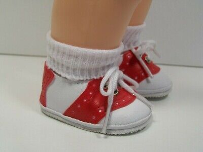 "Debs RED Splendid Doll Shoes EZ2 Close For 16/"" Terri Lee"