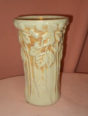 Vintage PETERS AND REED ZANE WARE POTTERY Vase BLACKBERRY Pattern Stoneware