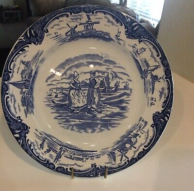 Antique OLD DUTCH Blue and White Porcelain Ceramic China Made in England