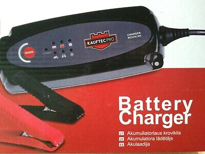 Battery Charger FT-4A 75W 12V 4A,1.4-80Ah automatic,Waterproof  for Car Motorcyc