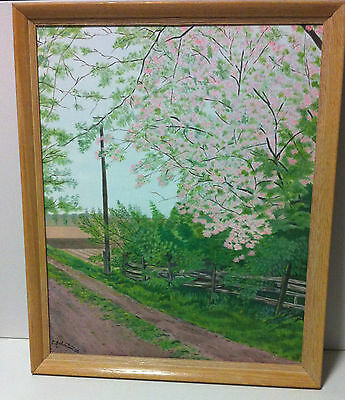 """Oil Painting On Stretched Canvas Approx 16"""" x 20"""" x 1"""" """"Blossoms in Bloom"""""""