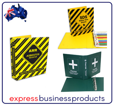 Safety Binders - SDS, Asb. Management and First Aid Binders