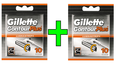 Gillette Contour Plus Razor Blades Cartridge 10 Refills x 2 packs