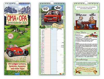 Calendar Wall Picture Oma Grandfather 2020 Cartoons Jokes
