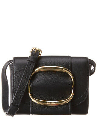 97b89248 SEE BY CHLOE Hopper Mini Leather Shoulder Bag Women's Black
