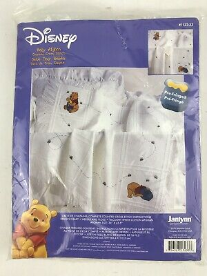 Disney Janlynn Counted Cross Stitch Kit Pooh Bear Baby Afghan 34 x 43 New Sealed