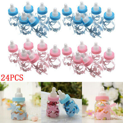 24PCS Fillable Bottles Candy Box w/ Bear Baby Shower Baptism Party Favour Gifts