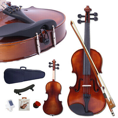4/4 Full Size Brilliance Spruce Wood Acoustic Violin Fiddle Set