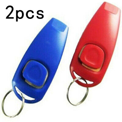 2 in 1 Pet Dog Clicker and Whistle Obedience Agility Puppy Behaviour Training UK