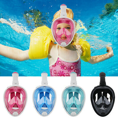 Anti-Fog Full Face Snorkel mask Diving Scuba Swimming Set Breath Pipe Adult Kids