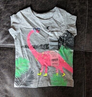 NWT Girls Carters 3 Months Tropical Dinosaur Shirt