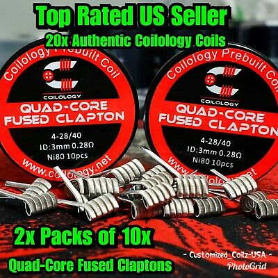 NEW Coilology Quad-Core Fused Clapton Coils 20 Pack FREE SHIPPING Alien,Staple