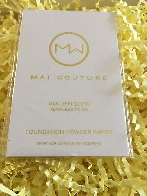MAI COUTURE Golden Glow Foundation Paper (50 Sheets).