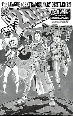 League of Extraordinary Gentlemen THE TEMPEST #6 Black & White Variant cover