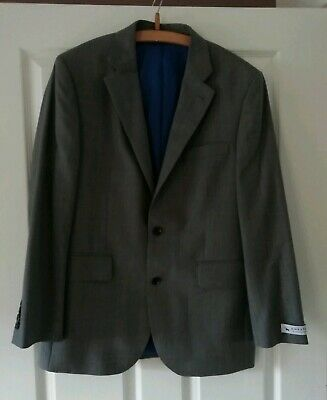 Chester Men's Suit Jacket Grey 42 Reg Tailored fit New Free UK Postage