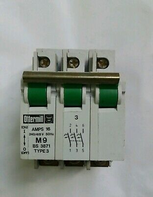 Ottermill System T  6 Amp Triple Pole MCB Type 3//C M9