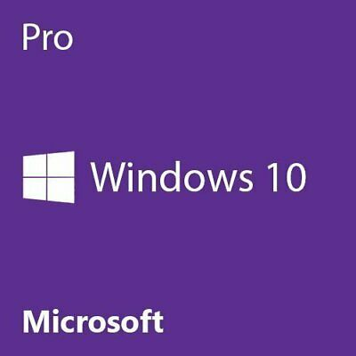 Microsoft Windows 10 Professional Win 10 Pro DVD, 32/64 Bit + Key