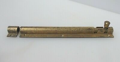 "Vintage Brass Door Lock Bolt Bathroom Lock WC Toilet Old Antique Art Deco  10""L"
