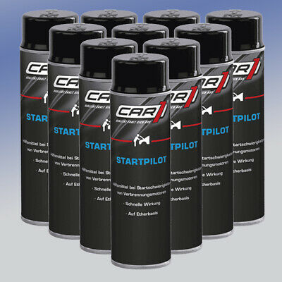 CAR1® CO3605 Startpilot 10 x 250 ml Starthilfespray Kaltstartspray Startspray