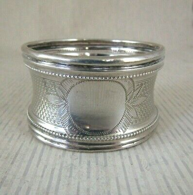 Antique Solid Silver LARGE NAPKIN RING  -  FRENCH