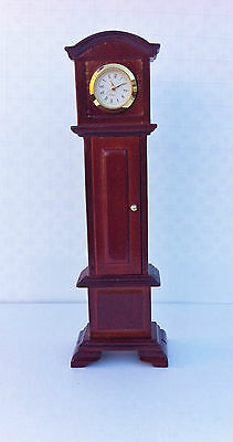 Working Grandfather Clock Choice of Two Colours, Dolls House Miniature, Ornament