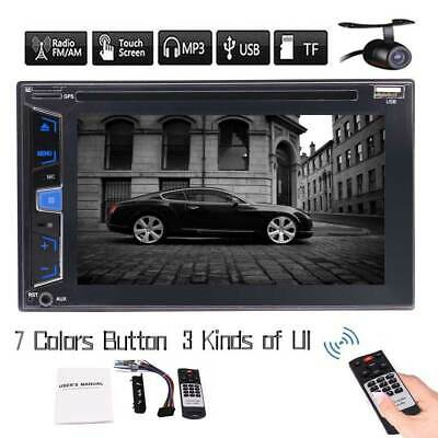 Double 2Din 6.2 Inch 1080P Car Stereo Capacitive Touch Screen Bluetooth + Camera