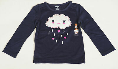 NWT Gymboree BUNDLED AND BRIGHT Size 2T Navy Cloud Shirt Top NEW