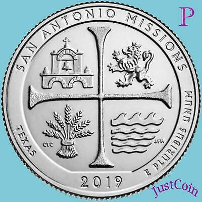 2019-P San Antonio Missions (Tx) National Park Uncirculated Quarter