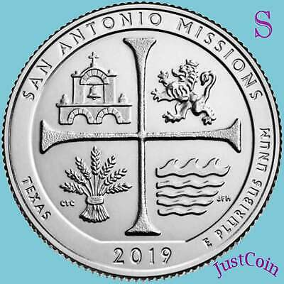 2019-S San Antonio Missions (Tx) National Park Uncirculated Quarter