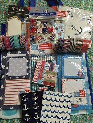 Target Dollar One Spot, Planner Kit, July 4th, Red White Blue, USA, Washi, Whale