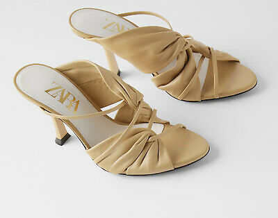 Heel Fine Woman Zara Sandals Strappy High 35 New 42 Gold Ref5305 8w0OnPkX