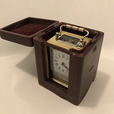 French Carriage Clock With Case 8 Days Movement