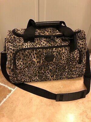 "**Ricardo Beverly Hills 16""  Carry On TOTE Animal Print Tapestry Canvas Luggage"