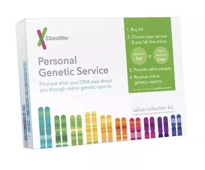 23andMe Personal Genetic Service Anestry Health DNA Saliva Collection Kit Eco