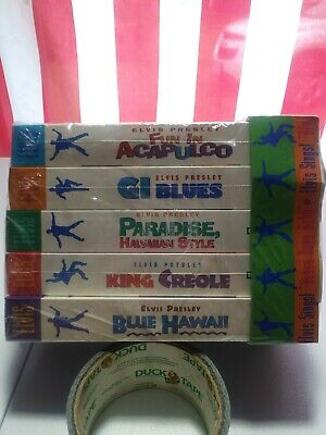 *BRAND NEW* Sealed Elvis Presley VHS Lot Of 5 Blue Hawaii GI Blues King Creole