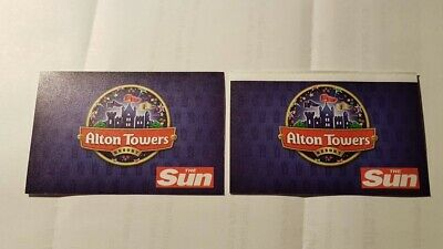 2 x Alton Towers Tickets - Monday 17th June - Adults or Child
